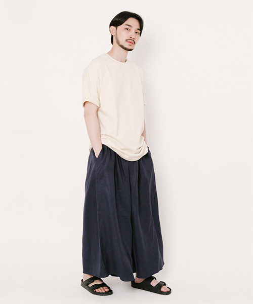 Joy Wide Wide Light Linen Tall Pants Navy