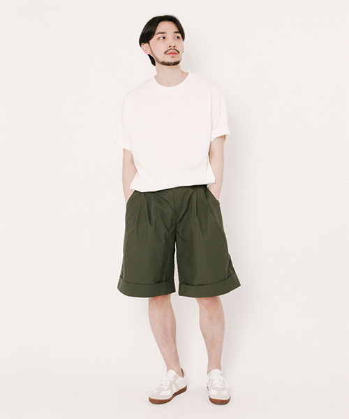 Tommy Turn Up Shorts Hunter Green