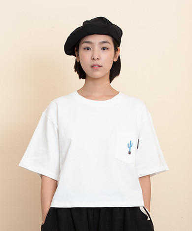 Woman Cactus Pocket T-Shirts