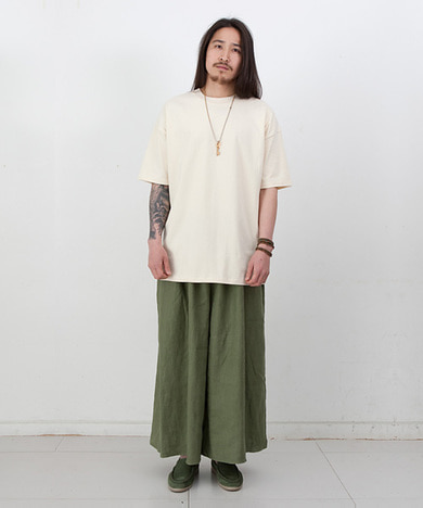 Joy Wide Wide Linen Tall Pants Vintage Olive