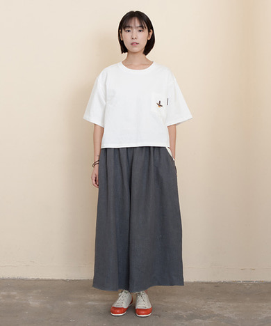 Joy Wide Wide Linen Pants Vintage Grey