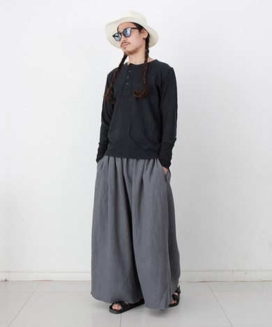 Joy Wide Wide Linen Tall Pants Vintage Grey