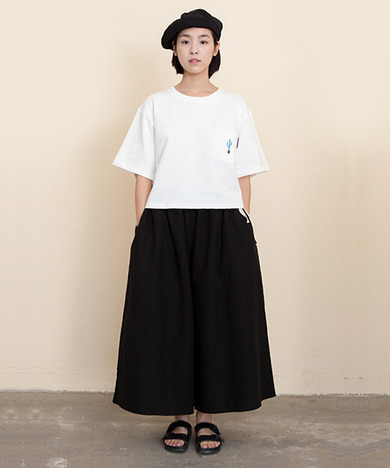 Joy Wide Wide Linen Pants Black