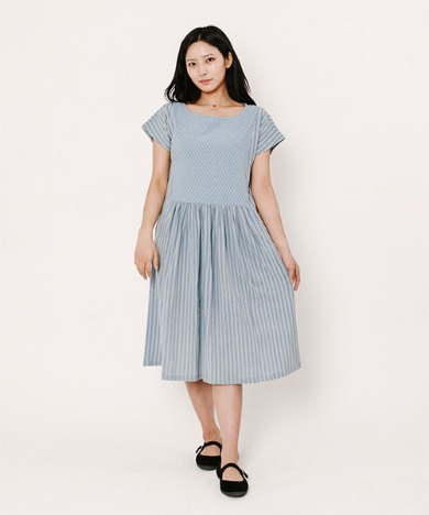 Kate Dobby Pigment Dress Light Blue