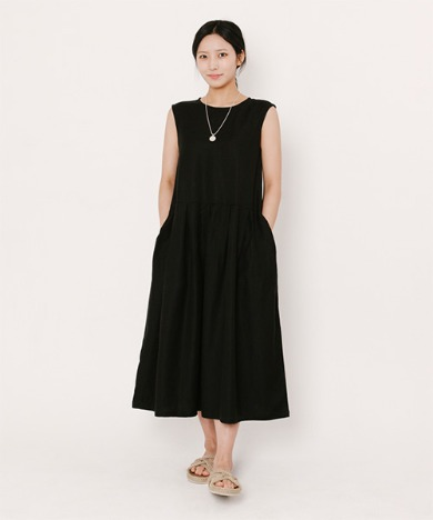 Lala Linen Dress Black