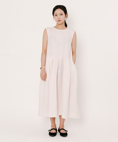 Lala Linen Dress Light Pink
